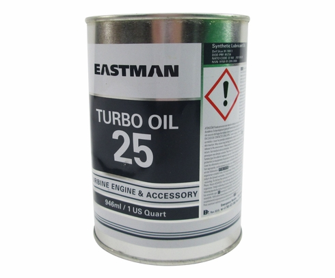 Eastman Turbo Oil 25 Clear DOD-PRF-85734A Spec Helicopter Transmission Lubricating Oil - Quart Can