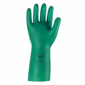 Ansell 37-155 Solvex® Green 15 mil Sandpatch Grip Nitrile Gloves