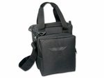 Aviation Supplies & Academics ASA-BAG-PILOT-1 AirClassics™ Black 600D Polyester Pilot Bag