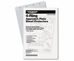 Aviation Supplies & Academics ASA-AP-SP-4RNG 4-Ring Approach Plate Sheet Protectors - 10-Pack