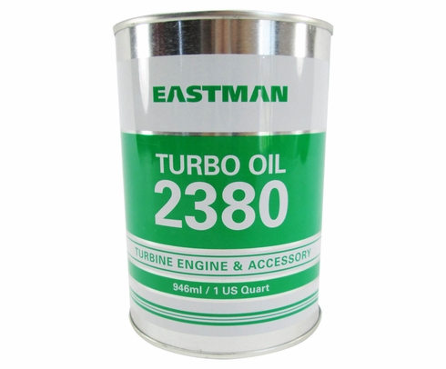 Eastman Turbo Oil 2380 Clear MIL-PRF-23699 Spec Aircraft Turbine Engine Lubricating Oil - Quart Can
