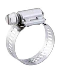 Breeze 200 40H Aero-Seal® Stainless Band/Stainless Steel Standard Hex Head Screw Clamp, Hose