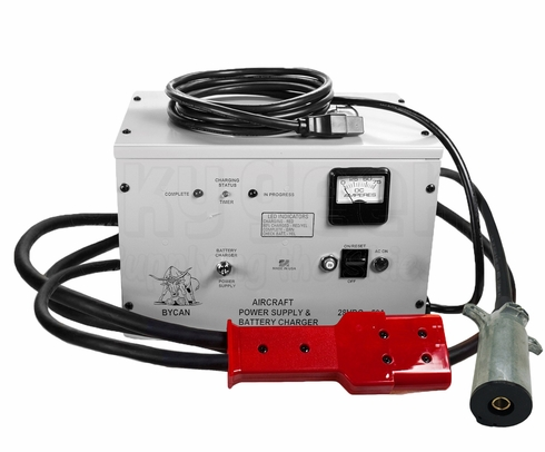 Bycan PS-2850P 115-VAC Power Supply/Battery Charger - Piper + AN2551/Cessna Plug