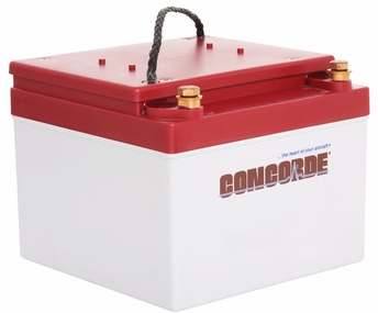 Concorde RG24-11 24-Volt General Aviation AGM Aircraft Battery