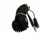 David Clark 18874G-01 Model C31-26 Black 26' Coil Cord GSE Headset Extension