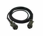 David Clark 18747G-05 Model C38-12 Black Series 3800 12' Jumper Cord Assembly