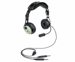 David Clark 43106G-01 Model DC PRO-2 Passive Mono 5' Straight Cord Standard Dual Plugs Aircraft Headset