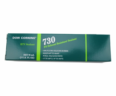Dow Corning 730 White Solvent Resistant Silicone Sealant - 90 mL Tube