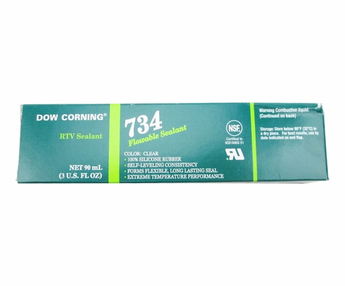 Dow Corning 734 Clear Flowable Plus Silicone Sealant - 3 oz Tube