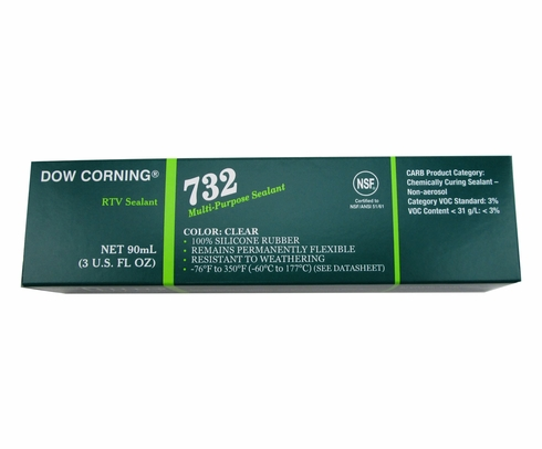 Dow Corning 732 Clear Multi-Purpose Silicone Sealant - 90 mL Tube