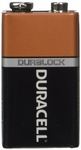 DURACELL® MN1604 Duralock® 9-Volt Alkaline Button Top Battery - Uncarded Bulk