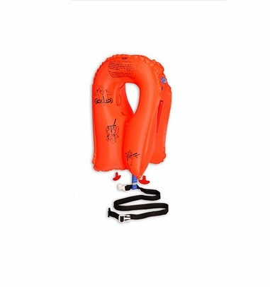 EAM Worldwide P01074-137WC Orange XF-35 Twin-Cell Crew Life Vest with Whistle
