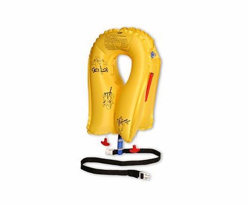EAM Worldwide P0723E109P Yellow KSE-35L8 Twin-Cell Helicopter Life Vest
