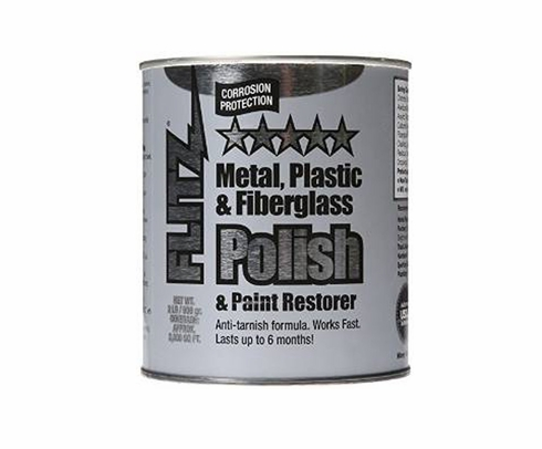 FLITZ CA 03518-6 Paste Metal Polish, Fiberglass & Paint Restorer - 2 lb Can