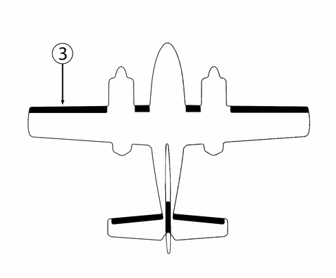 Goodrich 25S5D5124-03 Cessna T-303 LH Outboard Wing De-Ice Boot