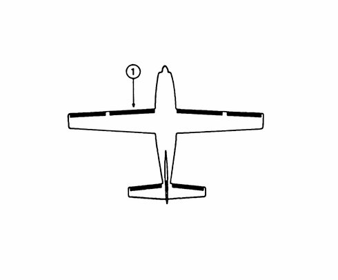 Goodrich P25S5D5101-07 FASTboot® Cessna 210N, T210N & P210N LH Wing De-Ice Boot