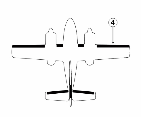 Goodrich P25S5D5124-04 FASTboot® Cessna T-303 RH Outboard Wing De-Ice Boot