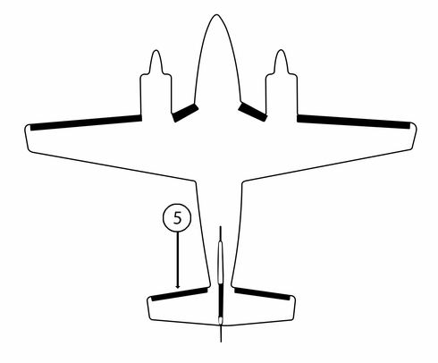 Goodrich P25S7D5026-03 FASTboot® Piper PA31 LH Horizontal Stabilizer De-Ice Boot