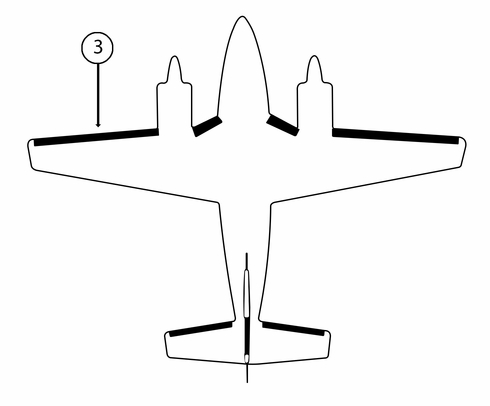Goodrich P25S7D5026-11 FASTboot® Piper PA31 LH Nacelle - Tip De-Ice Boot