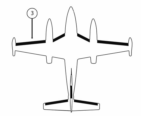 Goodrich P25S7D5095-11 FASTboot® Piper PA42 & PA42-1000 LH Nacelle - Tip De-Ice Boot