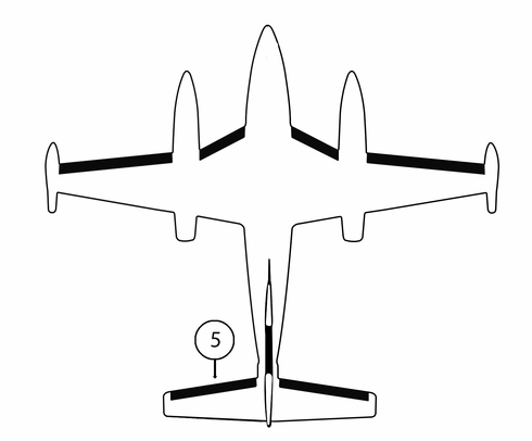 Goodrich P25S7D5095-13 FASTboot® Piper PA42 & PA42-1000 LH Horizontal Stabilizer De-Ice Boot