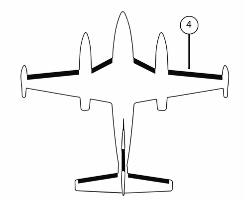 Goodrich P25S7D5095-18 FASTboot® Piper PA42 & PA42-1000 RH Nacelle - Tip De-Ice Boot