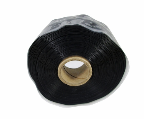 """Harbor Products F4 Black Self-Fusing Silicone Tape - 1"""" Wide x .020"""" Thick x 36' Long Roll"""