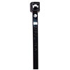"HellermannTyton T50S-0 Cable Tie - Black - 6.5"" - 50lb"
