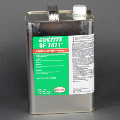 Henkel 19268 LOCTITE® SF 7471™ Yellow Liquid Anaerobic Activator - Gallon Can