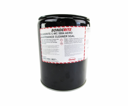 Henkel 597177 BONDERITE C-MC 5884 Aero Turbine Engine Compressor Cleaner - 5 Gallon Pail