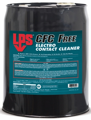 LPS� 03105 CFC Free Electro Clear Fast Evaporating Contact Cleaner - 5 Gallon Steel Pail