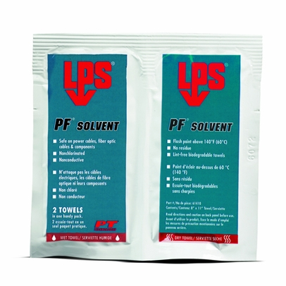LPS� 61410 PF Solvent Clear/White Penetrating Degreaser - 1 Wipe Wet/Dry Pack