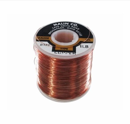 "Malin 11-0126-001S Copper 0.0508"" #16 Breakaway Wire (1 lb. Roll)"