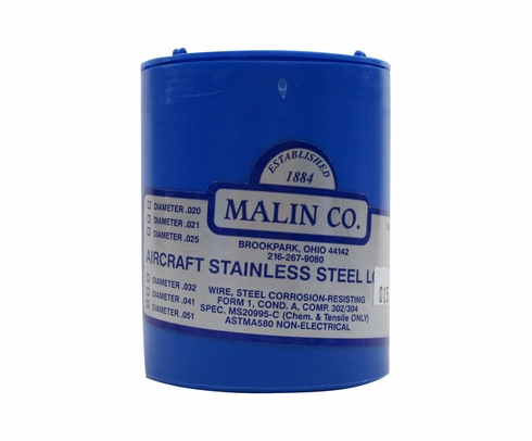Military Standard MS20995C15 Stainless Steel 0.015 Diameter Safety Wire - 1 lb Roll