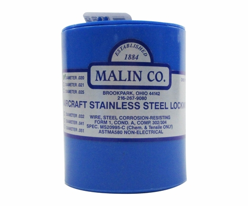 Military Standard MS20995C20 Stainless Steel 0.020 Diameter Safety Wire - 1 lb Roll