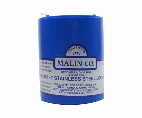 Military Standard MS20995C25 Stainless Steel 0.025 Diameter Safety Wire - 1 lb Roll