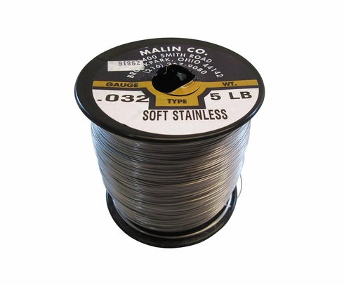 Military Standard MS20995C32 Stainless Steel 0.032 Diameter Safety Wire - 5 lb Roll