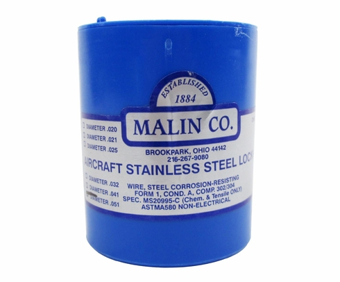 Military Standard MS20995C51 Stainless Steel 0.051 Diameter Safety Wire - 1 lb Roll