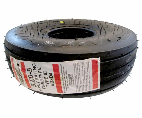 Specialty Tires of America AB3D4 McCreary Air Hawk 5.00-5 6 Ply Aircraft Tire