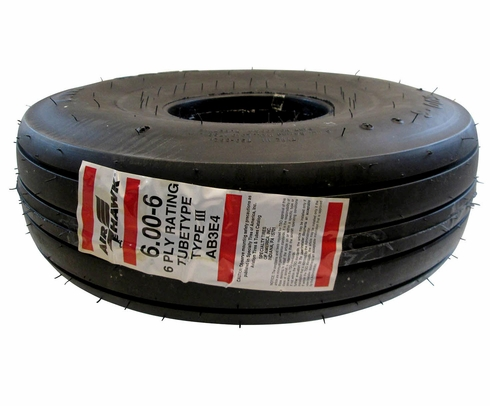 Specialty Tires of America AB3E4 McCreary Air Hawk 6.00-6 6 Ply Aircraft Tire
