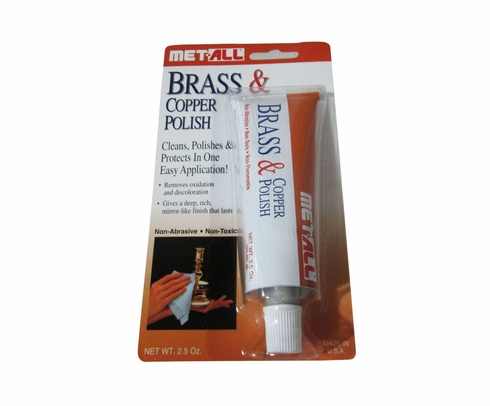 Met-All BC-2 Brass Cleaner & Copper Polish - 2.5 oz Tube