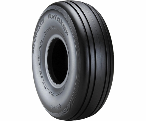 Michelin 071-312-0 Aviator 5.00-5-6 Ply 120 mph Aircraft Tire