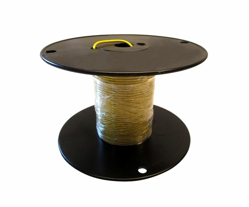 Military Specification M22759/16-14-4 Yellow 14 AWG PTFE Tapes/Coated Fiberglass Braid Wire - Sold per Foot