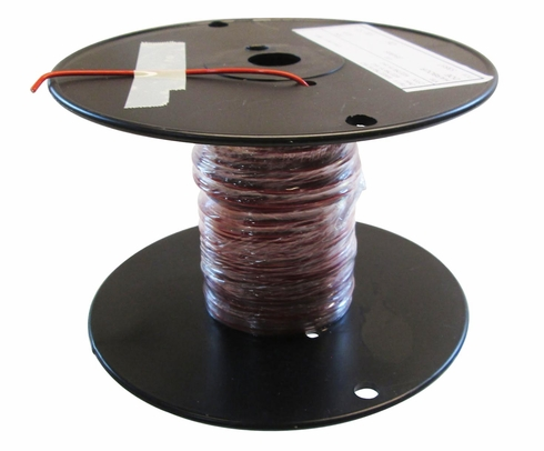 Military Specification M22759/16-18-2 Red 18 AWG PTFE Tapes/Coated Fiberglass Braid Wire - Sold per Foot