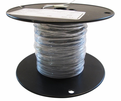 Military Specification M22759/16-20-9 White 20 AWG PTFE Tapes/Coated Fiberglass Braid Wire - Sold per Foot