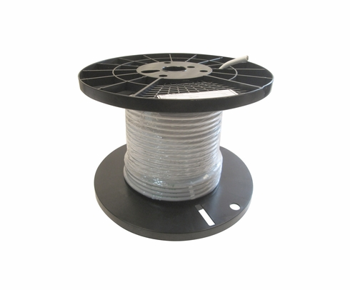 Military Specification M22759/16-4-9 White 4 AWG PTFE Tapes/Coated Fiberglass Braid Wire - Sold per Foot