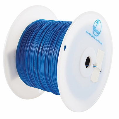 Military Specification M22759/34-22-6 Blue 22 AWG PTFE Tapes/Coated Fiberglass Braid Wire - Sold per Foot