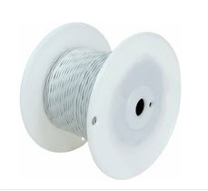 Military Specification M22759/7-20-0 Black 20 AWG PTFE Tapes/Coated Fiberglass Braid Wire - Sold per Foot