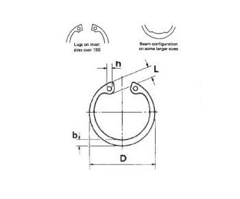 Military Standard MS16625-2077 Steel Ring, Retaining