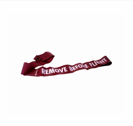 Military Standard MS51700-36 Red/White 36 Remove Before Flight Warning Streamer